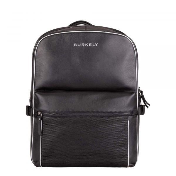 Trendy kožený batoh Burkely Lucent – černá