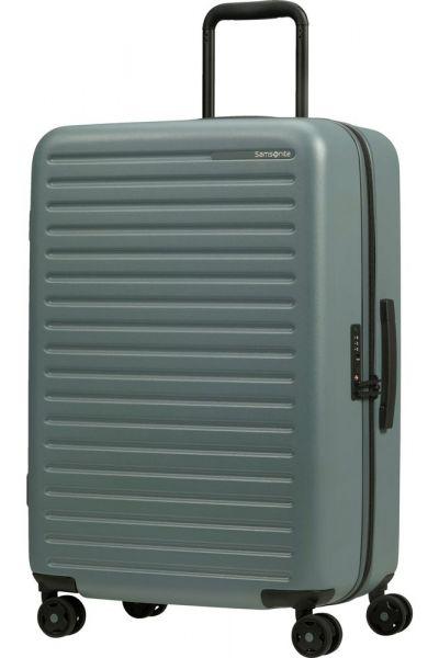 Samsonite Skořepinový cestovní kufr StackD 71 l – zelenošedá