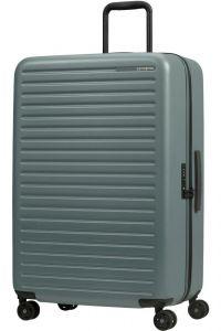 Samsonite Skořepinový cestovní kufr StackD 96 l – šedozelená