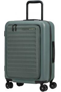 Samsonite Kabinový cestovní kufr StackD EXP Easy Access 39/46 l – šedozelená