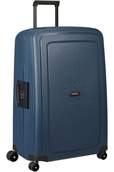 Samsonite Skořepinový cestovní kufr S'Cure Eco 102 l – modrá