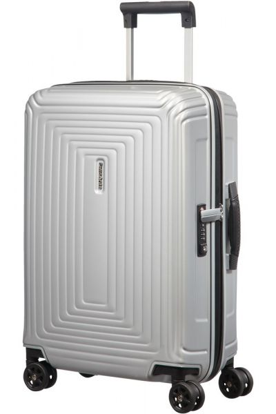 Samsonite Kabinový cestovní kufr Neopulse DLX 38 l – stříbrná matná