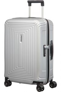 Samsonite Kabinový cestovní kufr Neopulse DLX 44 l – stříbrná matná