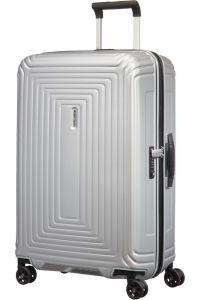 Samsonite Skořepinový cestovní kufr Neopulse DLX 74 l – stříbrná matná