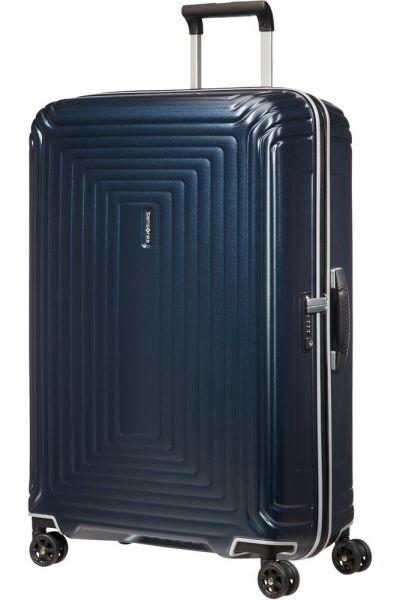 Samsonite Skořepinový cestovní kufr Neopulse DLX 94 l – Matná temně modrá