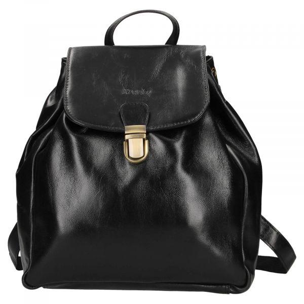 Dámský kožený batoh Rovicky Stella – černá