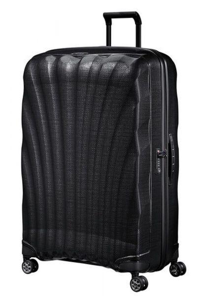 Samsonite Skořepinový cestovní kufr C-lite Spinner 144 l – černá
