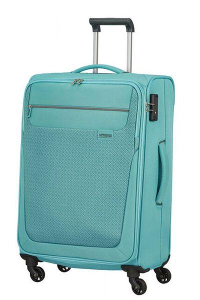 American Tourister Látkový cestovní kufr Sunny South M 64,5 l – světle modrá
