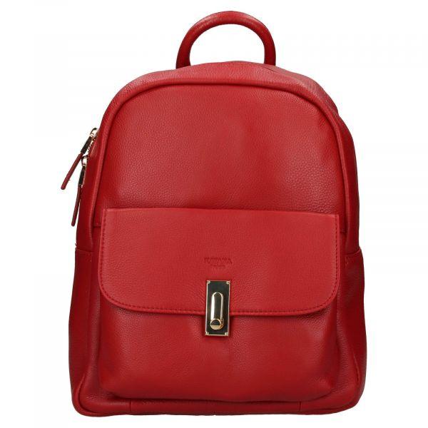 Elegantní dámský kožený batoh Katana Ninna- červená