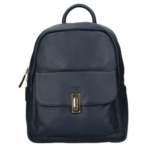 Elegantní dámský kožený batoh Katana Ninna- modrá