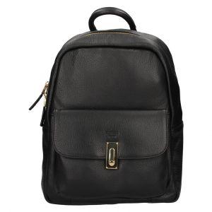 Elegantní dámský kožený batoh Katana Ninna- černá