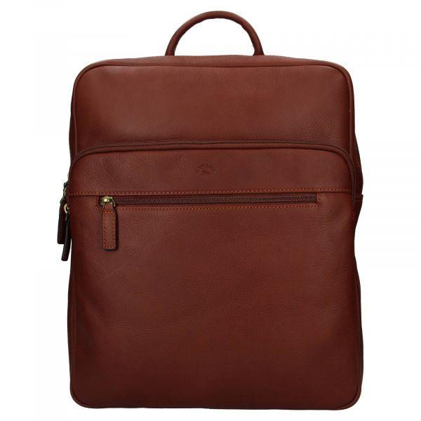 Velký kožený batoh Katana Nice – hnědá