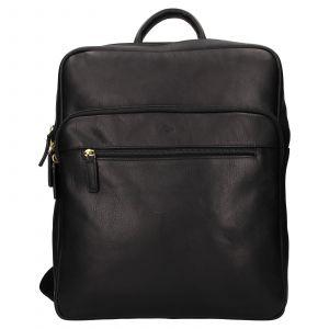Velký kožený batoh Katana Nice – černá