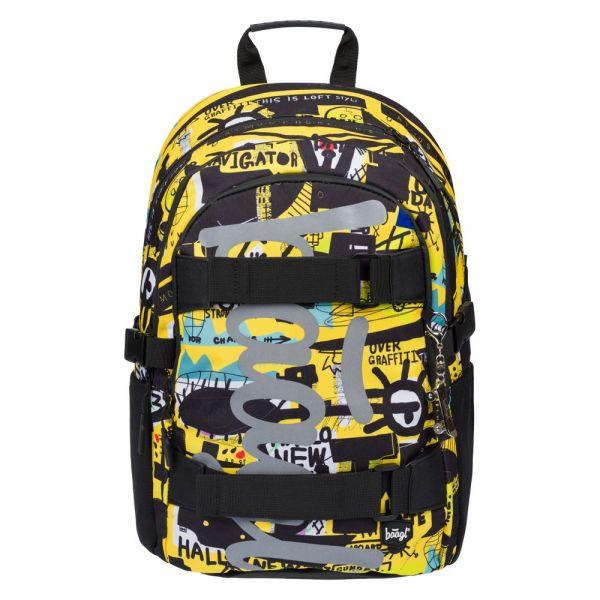 BAAGL Školní batoh Skate Street art 25 l