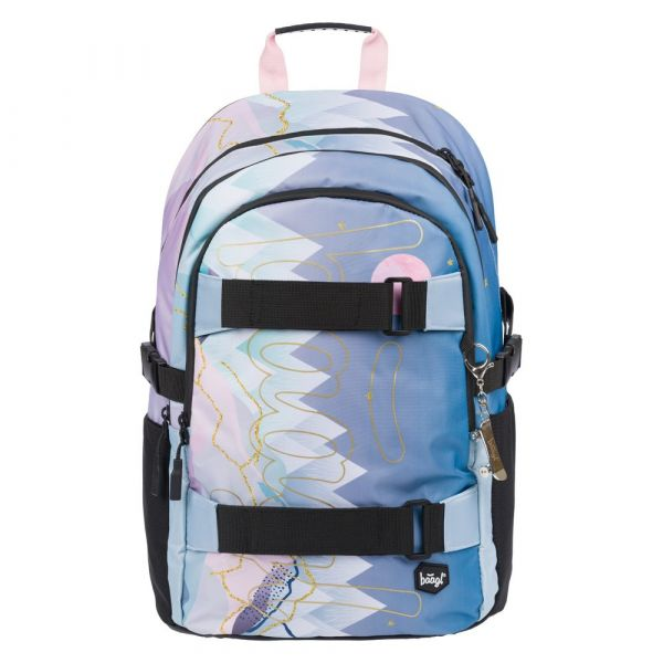BAAGL Školní batoh Skate Moon 25 l