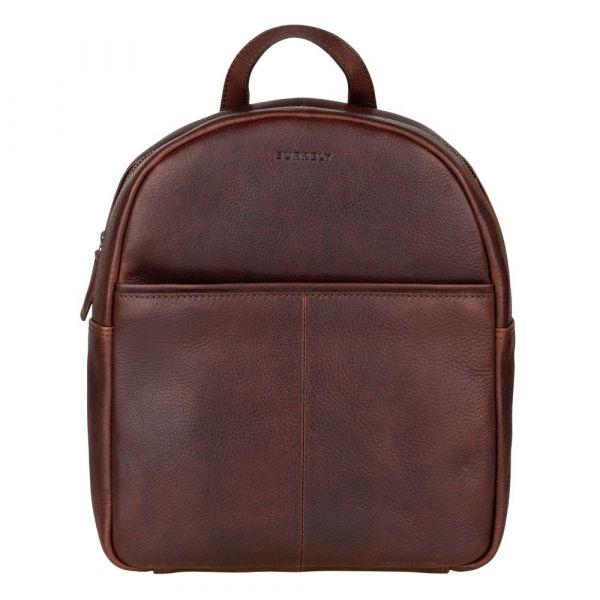 Dámský kožený batoh Burkely Terra – tmavě hnědá