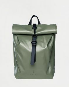Rains Rolltop Mini Shiny Olive 10 l