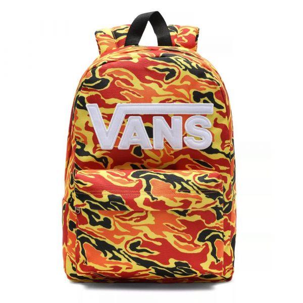 VANS Městský batoh New Skool Flame Camo 20 l