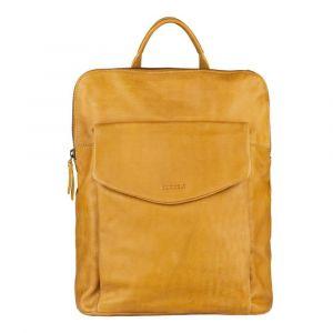 Dámský kožený batoh Burkely Fiona – žlutá