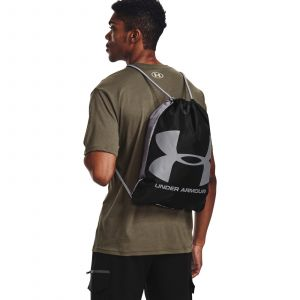 UA Ozsee Sackpack-BLK Black / Black / Steel