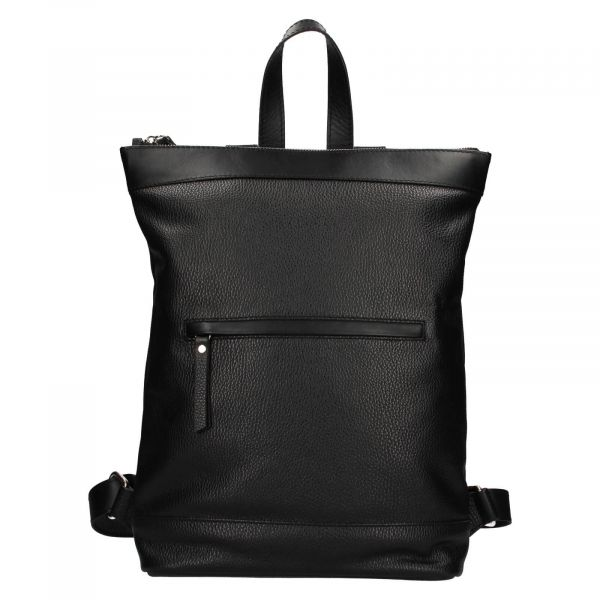 Kožený batoh Facebag Luciens – černá