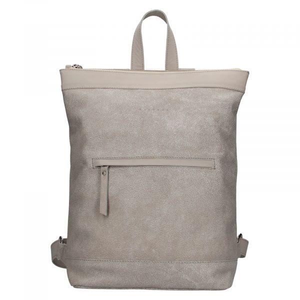 Kožený batoh Facebag Luciens – šedá