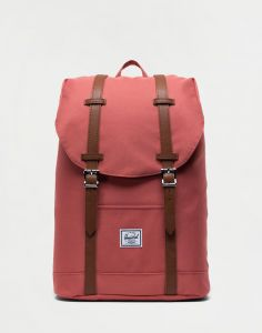 Herschel Supply Retreat Mid-Volume Dusty Cedar/Tan Synthetic Leather 14 l