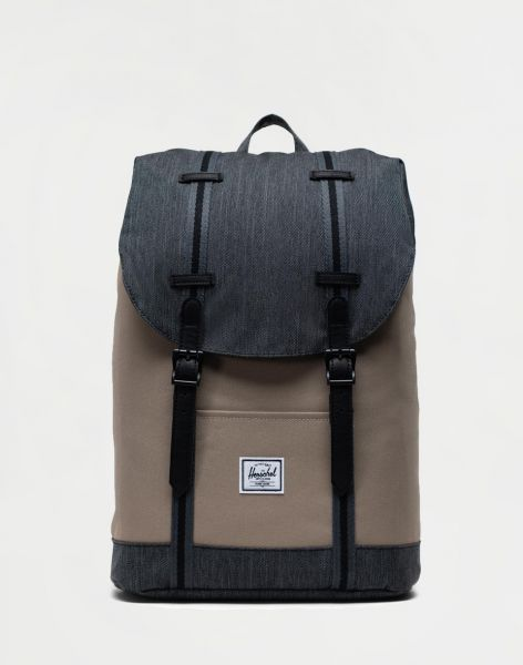 Herschel Supply Retreat Mid-Volume Timberwolf/Black Denim 14 l