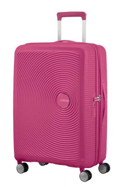 American Tourister Cestovní kufr Soundbox Spinner EXP 71,5/81 l – růžová
