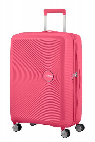 American Tourister Cestovní kufr Soundbox Spinner EXP 71,5/81 l – světle růžová