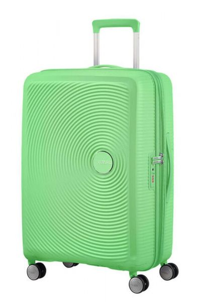 American Tourister Cestovní kufr Soundbox Spinner EXP 71,5/81 l – zelená