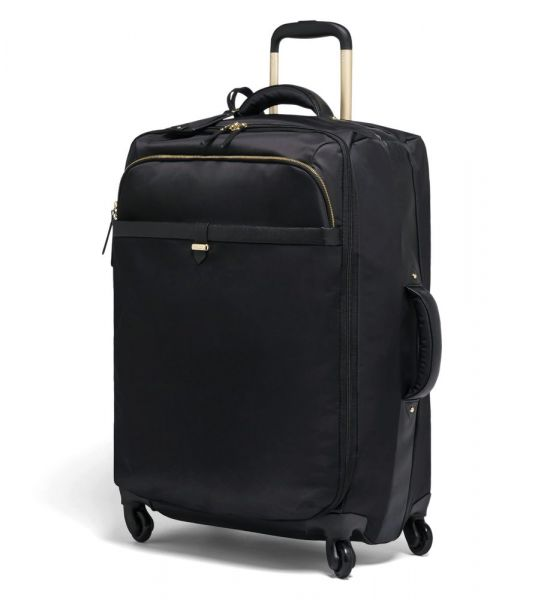 Lipault Látkový cestovní kufr Plume Avenue 69 l – černá