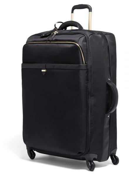 Lipault Látkový cestovní kufr Plume Avenue 93 l – černá