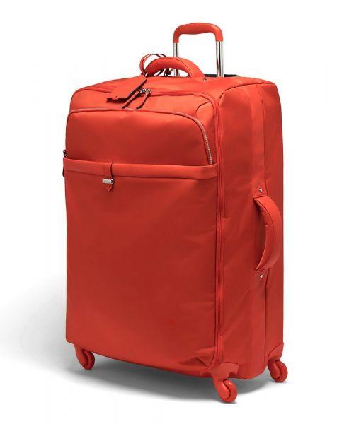 Lipault Látkový cestovní kufr Plume Avenue 93 l – červená