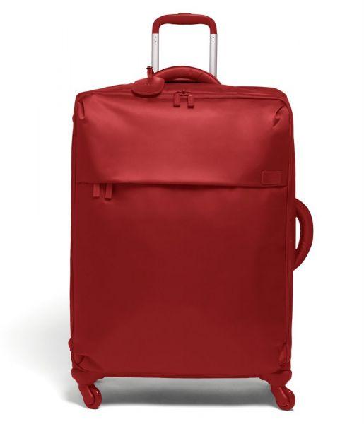 Lipault Látkový cestovní kufr Originale Plume 90 l – červená