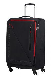 American Tourister Látkový cestovní kufr Lite Volt Spinner 70 l – BLACK/RED