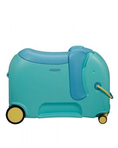 Samsonite Dětský kufr Dream Rider Deluxe Ride-On Spinner Elephant 25 l – modrá