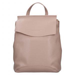 Dámský kožený batoh Facebag Stella – světle růžová