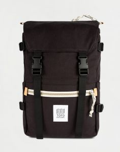 Topo Designs Rover Pack Canvas Black Canvas 20 l