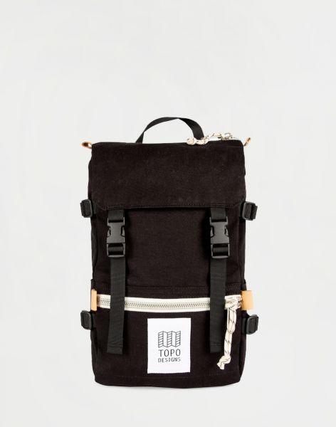 Topo Designs Rover Pack Mini Black Canvas 10 l