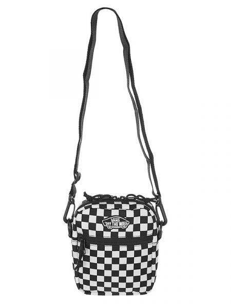 Vans STREET READY II Black/White Checkerboard taška přes rameno – černá