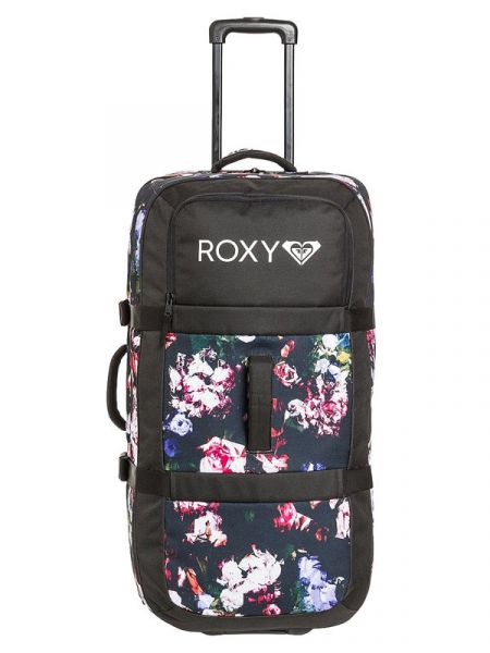 Roxy LONG HAUL TRUE BLACK BLOOMING PARTY kufr do letadla – černá