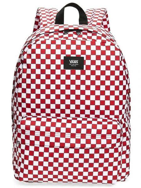 Vans OLD SKOOL III Chili Pepper Checkerboard batoh do školy – bílá