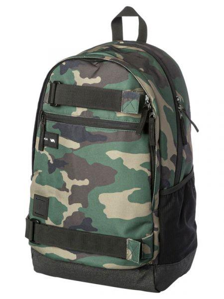 RVCA CURB III CAMO batoh do školy – zelená