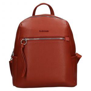 Módní dámský batoh David Jones Sally – oranžovo-hnědá