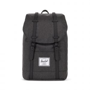 Retreat Black Crosshatch/Black Rubber