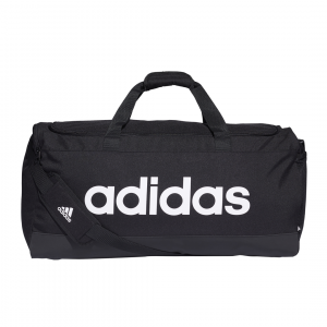 Linear duffel l BLACK/WHITE