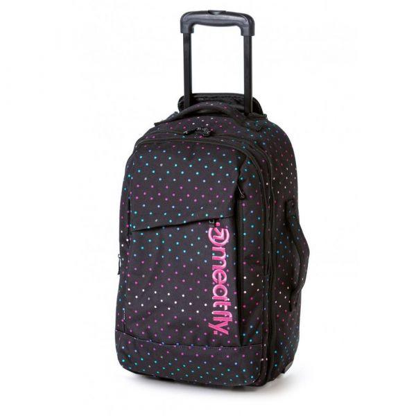 Meatfly Cestovní taška/batoh na kolečkách Revel 40 l – vzor/černá