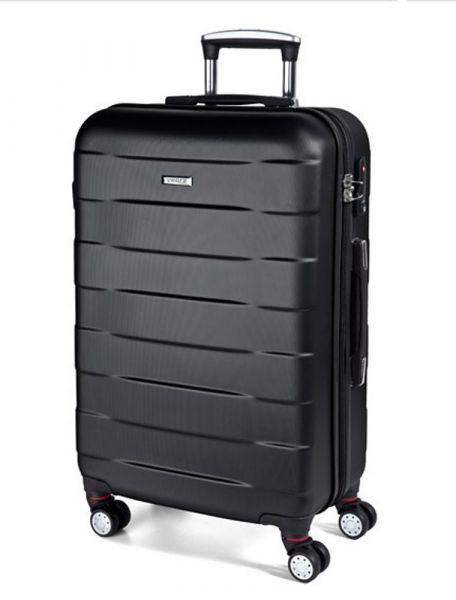 March Velký cestovní kufr Bumper 109,5 l – černá