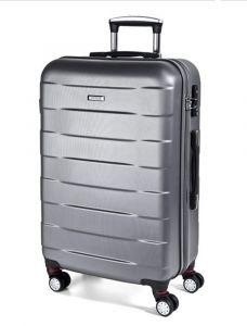 March Velký cestovní kufr Bumper 109,5 l – stříbrná